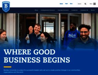 bentley.edu screenshot