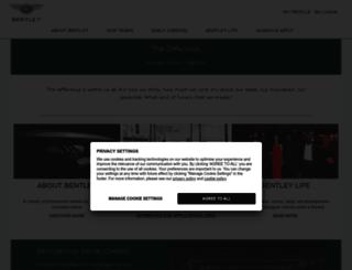 bentleycareers.com screenshot
