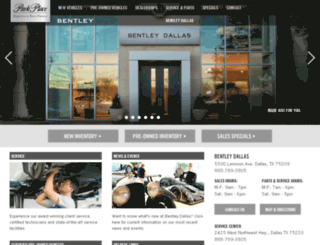 bentleydallas.parkplace.com screenshot