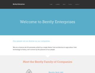 bentlyholdings.com screenshot