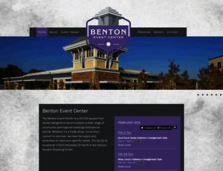 bentoneventcenter.com screenshot