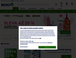 benu.cz screenshot