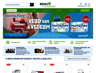 benu.hu screenshot