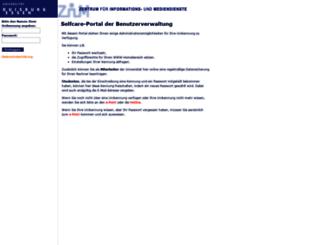 benutzerverwaltung.uni-duisburg-essen.de screenshot
