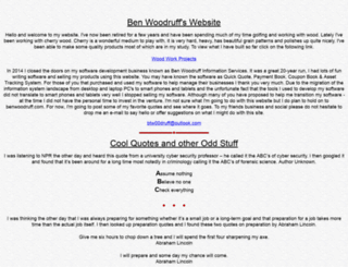 benwoodruff.com screenshot