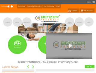 benzerpharmacy.com screenshot