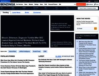 benzinga.com screenshot