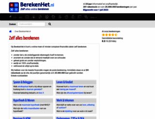 berekenhet.nl screenshot