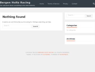 bergenholtzracing.com screenshot