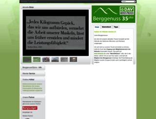 berggenuss35plus.de screenshot