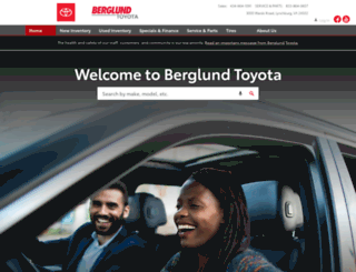 berglundtoyota.com screenshot