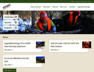 bergwaldprojekt.org screenshot