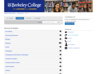 berkeleycollege.libguides.com screenshot