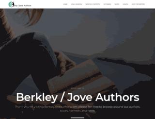 berkleyjoveauthors.com screenshot