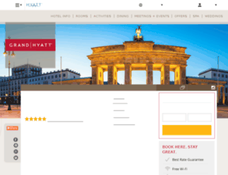 berlin.hyatt.com screenshot