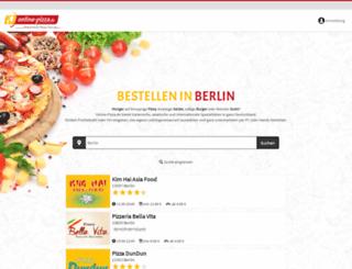 berlin.online-pizza.de screenshot