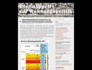 berlinappell.blogsport.de screenshot