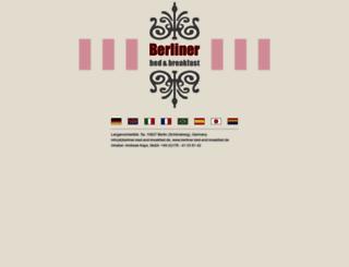 berliner-bed-and-breakfast.de screenshot