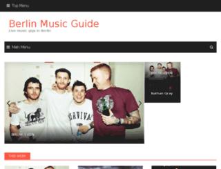 berlinmusicguide.com screenshot