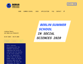 berlinsummerschool.de screenshot
