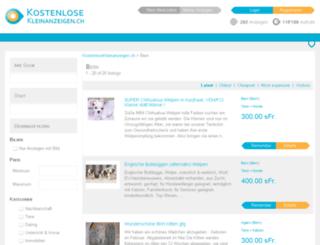 bern.kostenlosekleinanzeigen.ch screenshot