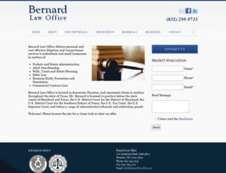 bernardlawoffice.com screenshot