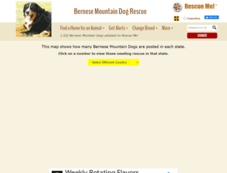 bernesemountaindog.rescueme.org screenshot
