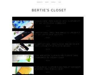 bertiescloset.com screenshot