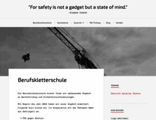 berufskletterschule.de screenshot