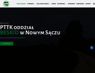 beskid.pttk.pl screenshot