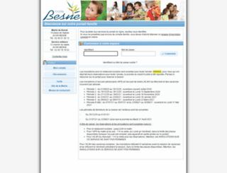 besne.portail-familles.net screenshot