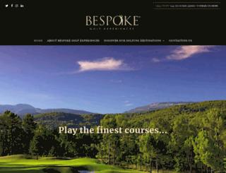 bespokegolfexperiences.com screenshot