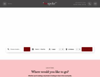 bespokehotels.com screenshot