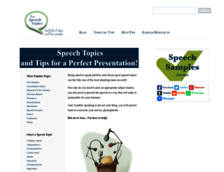 best-speech-topics.com screenshot