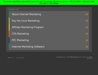 bestaffiliateprograms2015.com screenshot