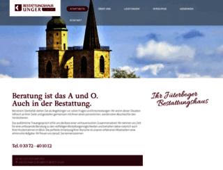 bestattungshaus-unger.de screenshot