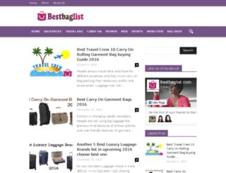 bestbaglist.com screenshot