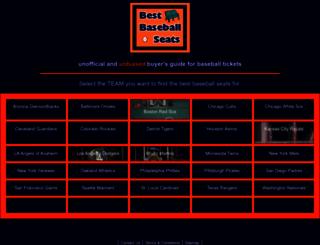 bestbaseballseats.com screenshot