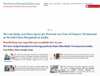 bestcancerhospitalindia.com screenshot
