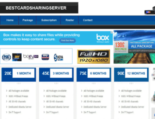 bestcardsharingserver.com screenshot