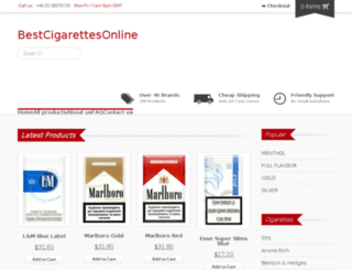 bestcigarettesonline.com screenshot