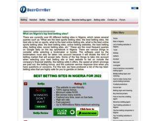 bestcitybet.com screenshot