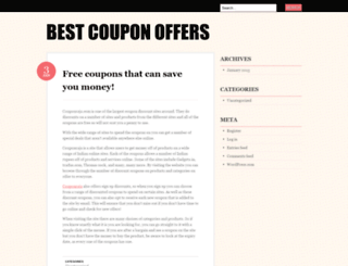 bestcouponoffers.wordpress.com screenshot
