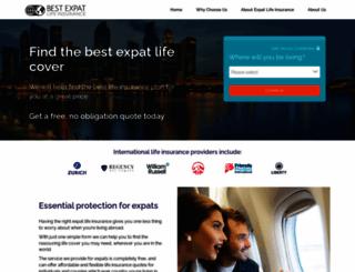 bestexpatlifeinsurance.com screenshot