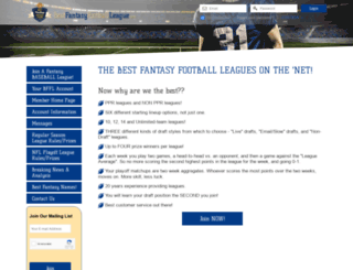 bestfantasyfootballleague.com screenshot