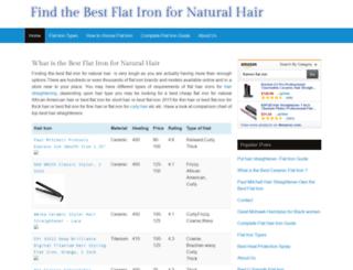 bestflatironfornaturalhair.net screenshot