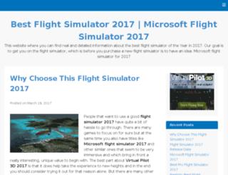 bestflightsimulator2017.com screenshot