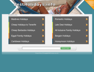 bestholidays.info screenshot