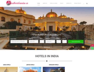 besthotelsindia.in screenshot