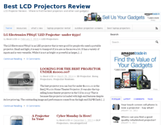 bestlcdprojectors.com screenshot